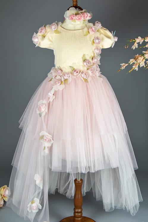 High Low Blush Dress