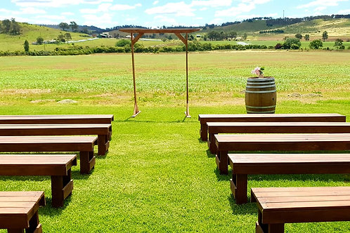 Timber Ceremony Bench 2.4mtr