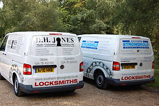Southern Stonghold Ltd & D.H. Jones Locksmiths Vans