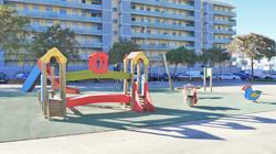 children´s playground in front