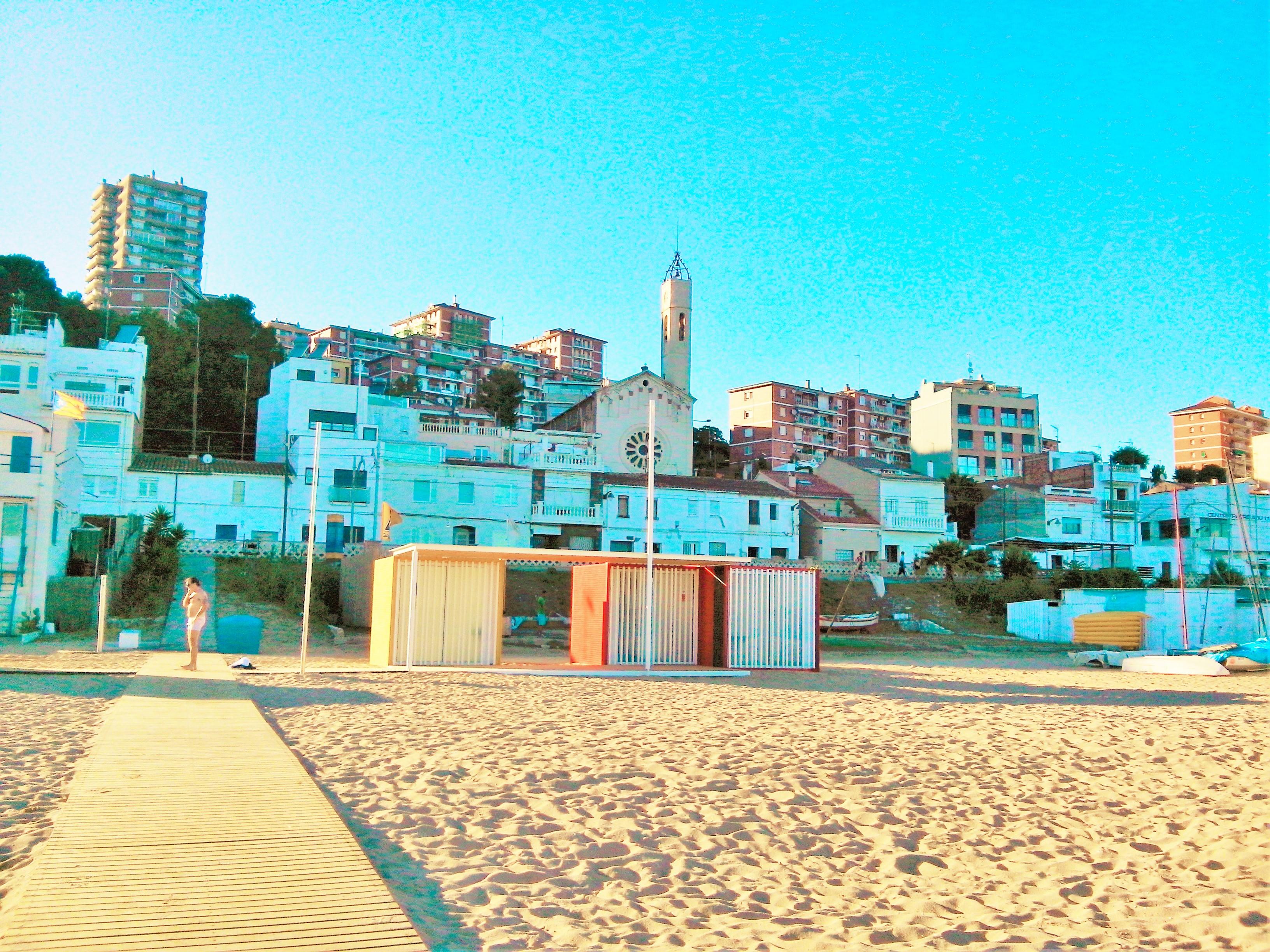 Montgat & Sand beach