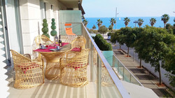 huge balcony with sea view