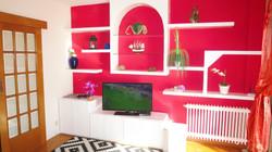 Wohnzimmer, SAT-TV.
