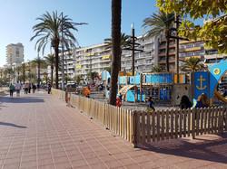Children´s playground at the beach