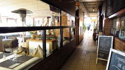 Many restaurants inside the Marina P