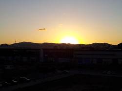 sunset, view from the balcony