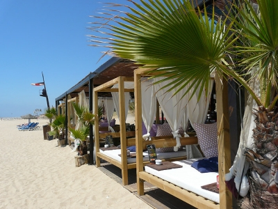 one of many beach bars
