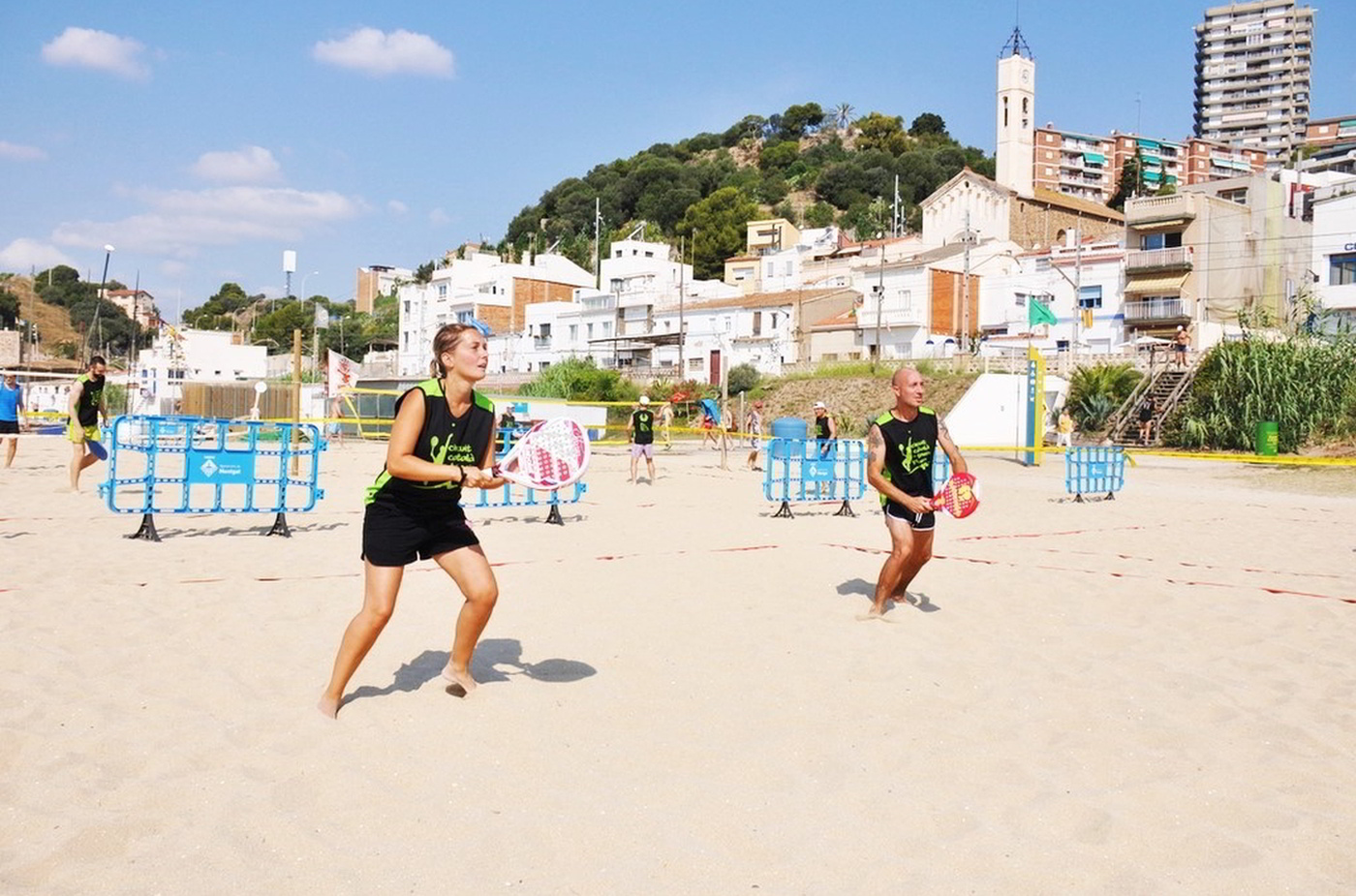 sport on the beach
