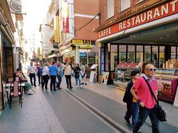 Reastaurants, bars, shops, bakery, butcher´s shop