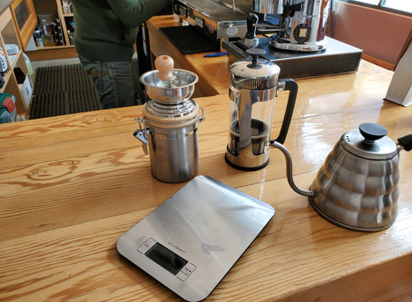 How to make a cup of coffee with the French Press.