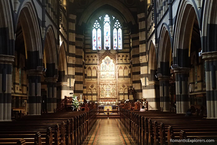 The isle that brides walk down on when getting married at  the beautiful St Paul's Cathedral in Melbourne.