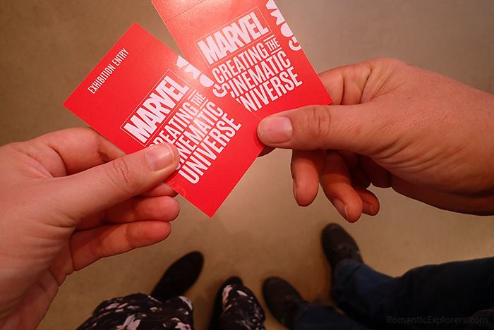 We got our awesome looking tickets for the Marvel: Creating the cinematic universe exhibition at QAGOMA! yay!