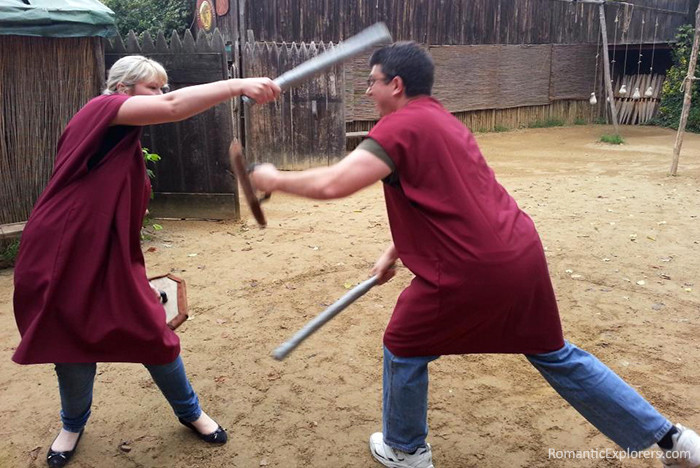 One of the most fun things couples can do together in Rome is go to Gladiator School!