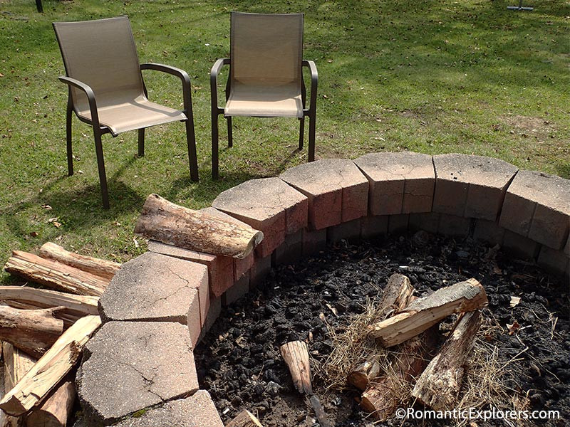 Enjoy each other's company at the firepit