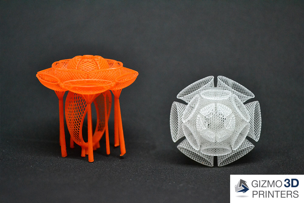 Prints from a High Resolution DLP 3D Printer