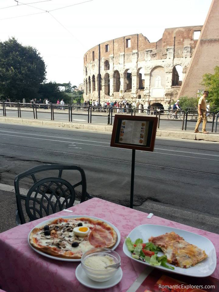 We recommend enjoying an authentic Italian meal at one of the restaurants in front of the Colosseum - it doesn't get better than that!