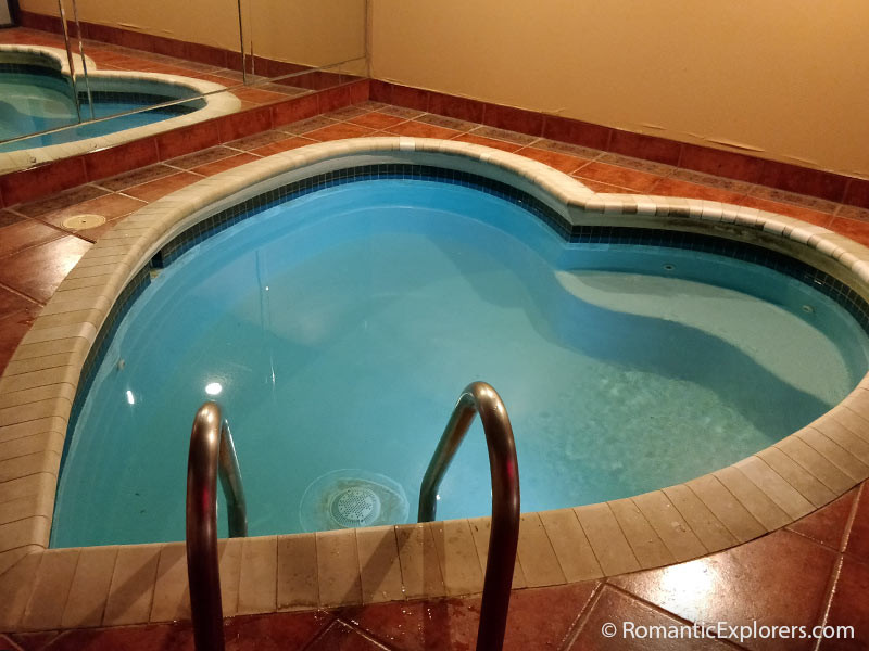 Our private heart-shaped indoor, heated pool at Cove Haven Resort