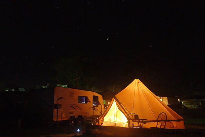 One of the most romantic things to do in Melbourne is glamping under the stars!