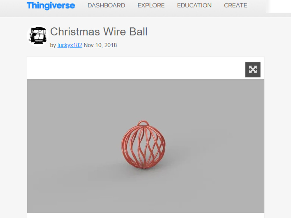 3D model of Christmas Wire Ball by luckyx182 on Thingiverse