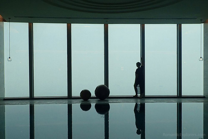Romantic accommodation recommendation: Conrad Xiamen Hotel. The view from the pool is just breathtaking.