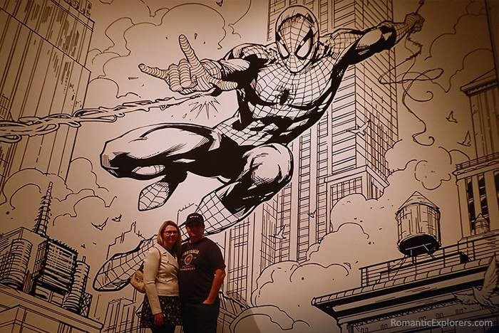 We spotted this awesome Spider-Man drawing against the wall during our date night at QAGOMA