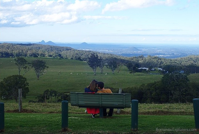 The lovers seats at Dahmongah Park, Mt Mee Lookout