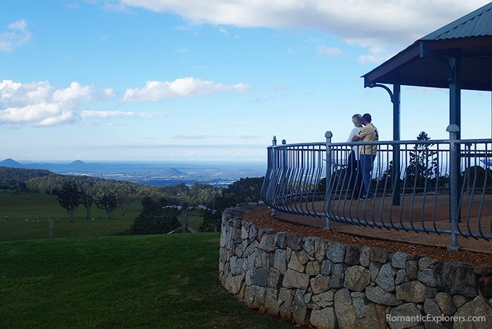 Stunning views can be enjoyed from the gazebo at Dahmongah Park, Mt Mee Lookout