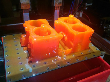Printing the big parts of the Toyota engine
