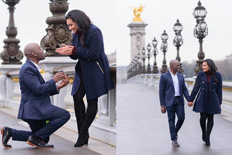 Romantic Marriage Proposal in Paris