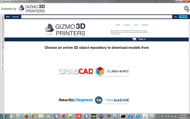 Gizmetor Web Tab screenshot