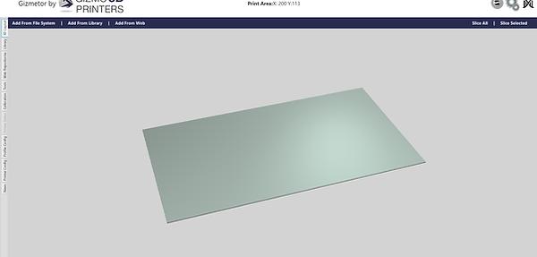 Gizmetor empty 3D view