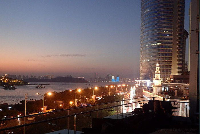 View of Hotel Indigo Xiamen Harbour from its open terrace