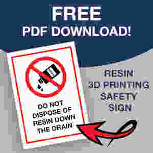 Resn 3D Printing Safety Sign - Free PDF Download