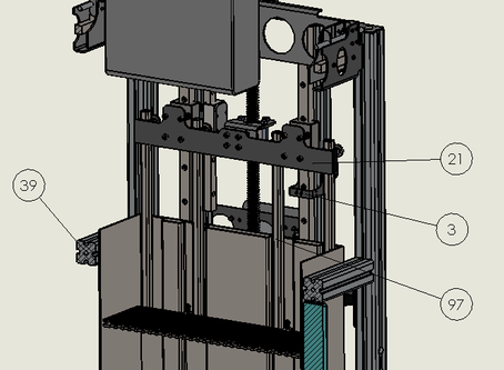 Install the build plate and vat