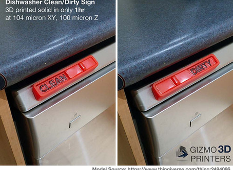 Gizmo 3D Printer Use Case: Dishwasher Clean/Dirty Sign
