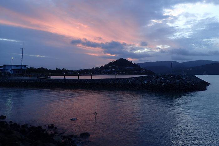 Sunset views from Airlie Beach Boardwalk