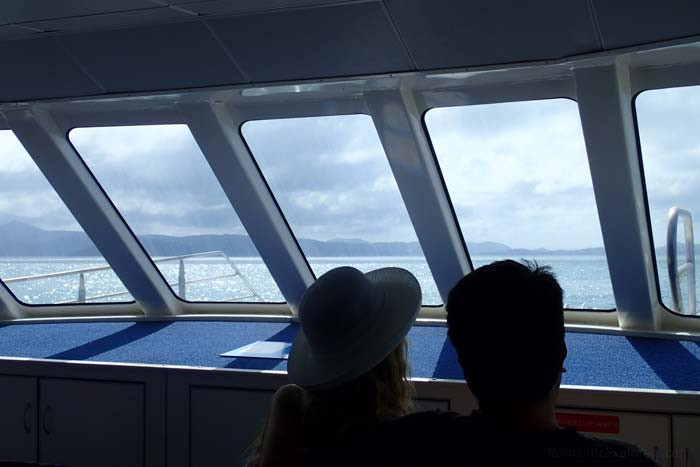 Our view during our romantic sailing experience on the Cruise Whitsundays boat