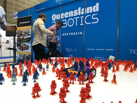 Gizmo 3D Printers Use Case: 500 Robots and Rockets Make for an Eye-catching Exhibition Stand