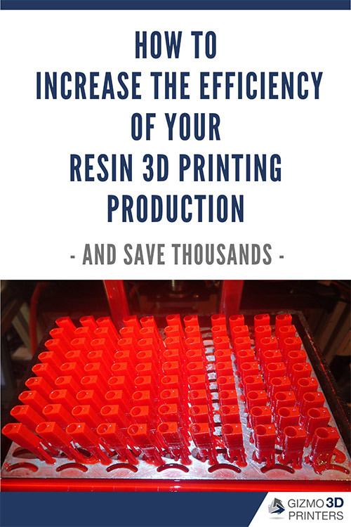 How to increase the efficiency of your resin 3D printing production - save this blog to Pinterest