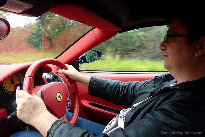 Giving hubby a Ferrari self-drive experience ensured he had a Happy Birthday indeed!