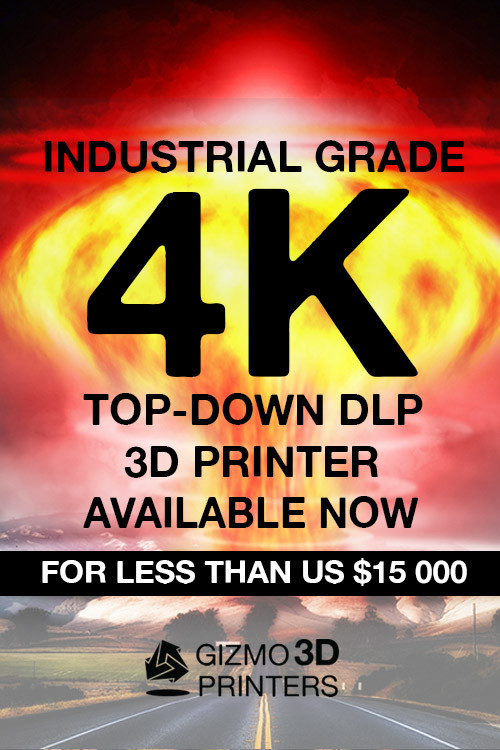 Industrial Grade 4K Top Down DLP 3D Printer Available now for less than US $15 000