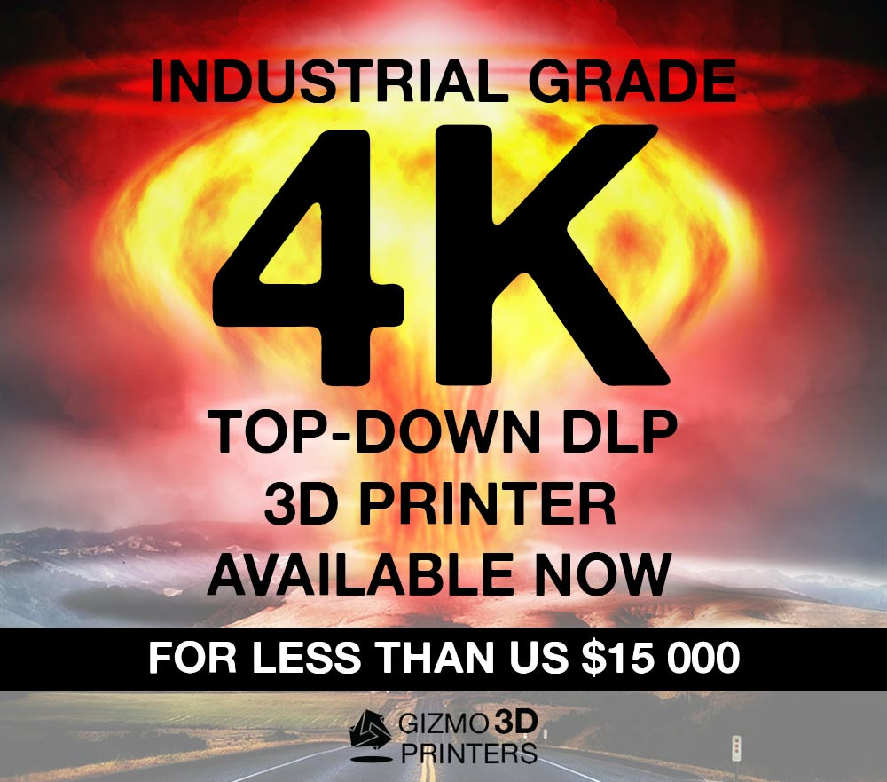 Industrial Grade 4K Top-Down DLP 3D Printer available now