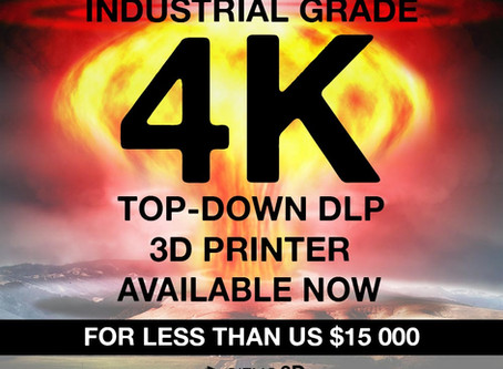 BOOM! An Industrial Grade 4K Top-Down DLP 3D Printer just Hit the Market for Less than US $15 000