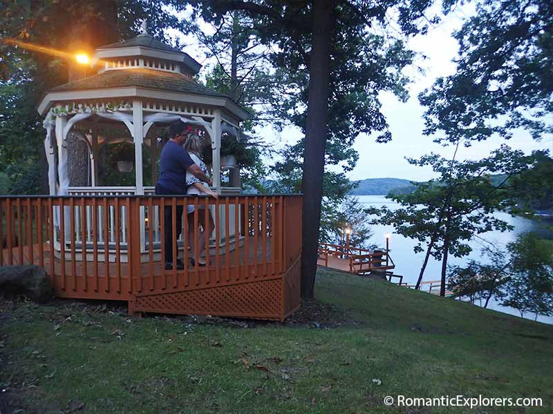 Romantic gazebo at Cove Haven Resort