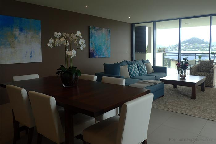 The Mirage Whitsundays apartments are beautifully styled