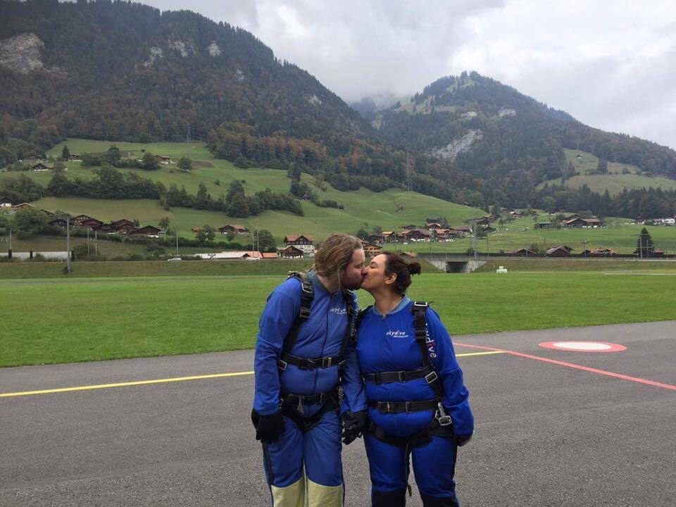 Honeymoon ideas: Skydiving in Interlaken, Switzerland