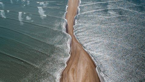 Sand in Mont-Saint-Michel bay