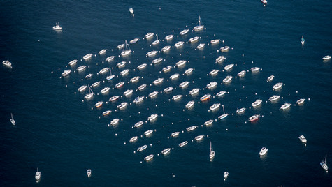 Square of boats