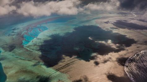 Cloud on blue lagoon