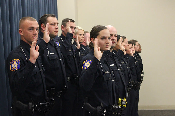 Certified Officers Take the Oath of Office